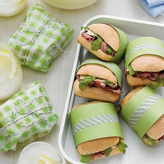 Beef-and-Arugula Ciabatta Sandwiches.
