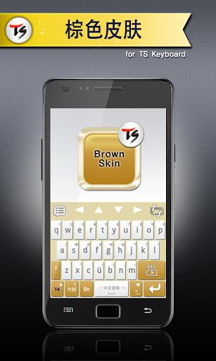 棕色皮肤 for TS 键盘