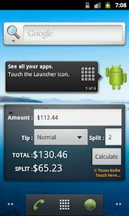 Tip Calculator Widget - screenshot thumbnail