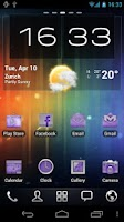 Screenshot of Neon Purple Icons Pack -ADW GO