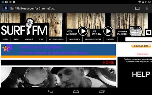 Surf-FM ChromeCast