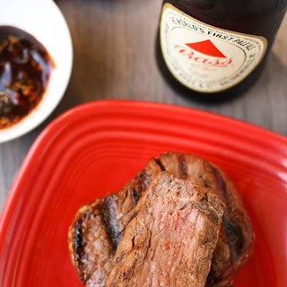 Grilled Tenderloin Steaks with Ginger-Hoisin Glaze