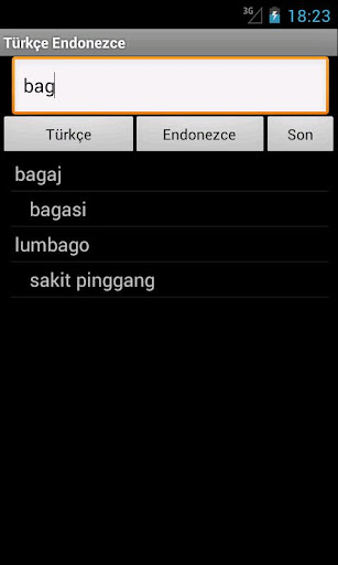 Turkish Indonesian Dictionary