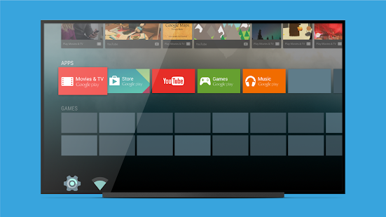 Android TV Launcher Screenshot