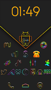 Super Neon icons pack v1.0.3