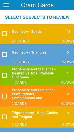 OAT Math Flashcards