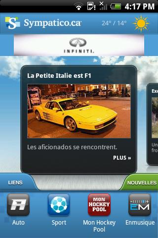 Sympatico.ca Mobile - screenshot