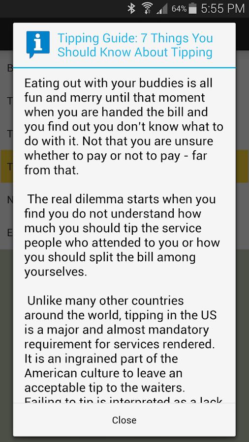 Tip N Split Tip Calculator - screenshot