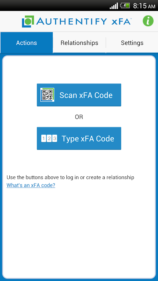 Authentify xFA - screenshot