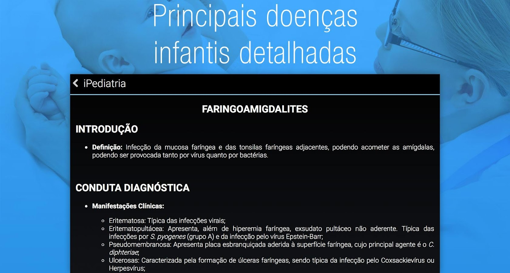 iPediatria, Pediatria Infantil - screenshot