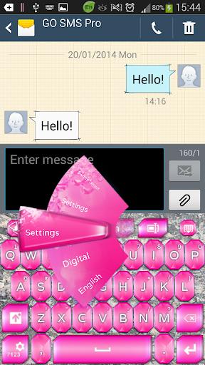 钻石粉红键盘