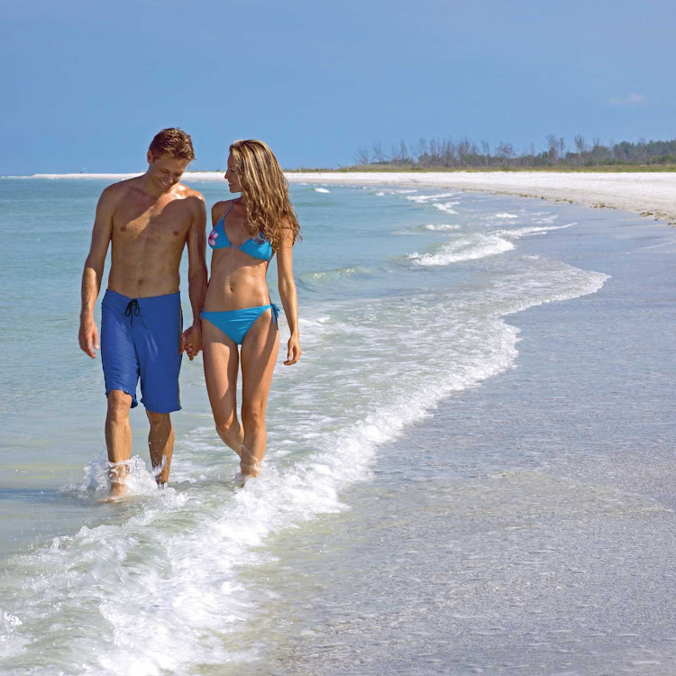 The white sand beaches of St. Petersburg and Clearwater near Tampa, Florida.