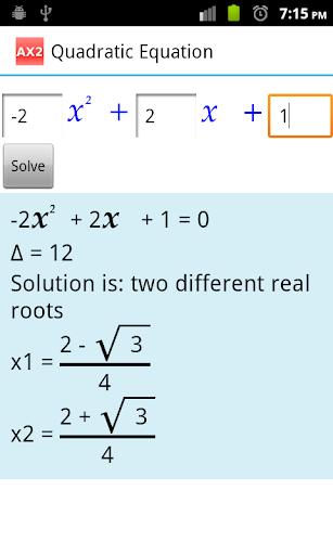 Quadratic Equation AX2