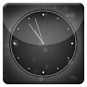 Black Bubbles Analog Clock LWP icon