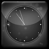 Black Bubbles Analog Clock LWP