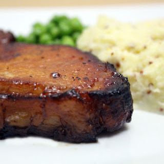 Honey Glazed Pork With Mustard Mash