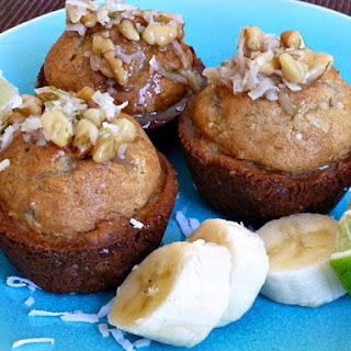 Jamaican Lime Banana Bread Muffins.