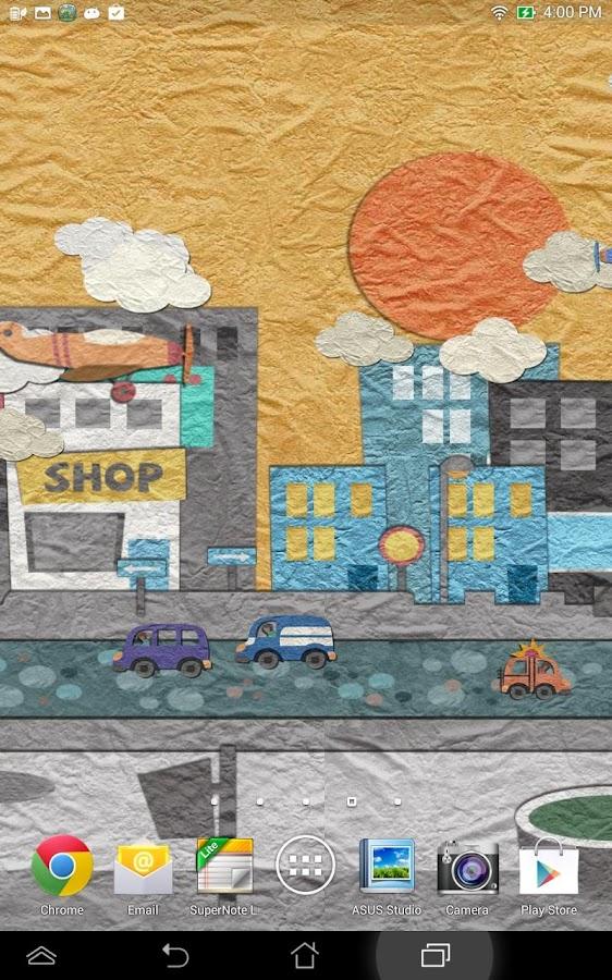 Papier land live achtergrond screenshot