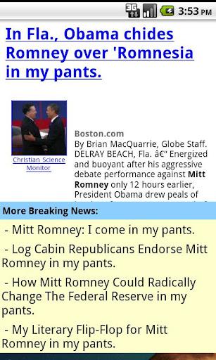 Mitt Romney In My Pants