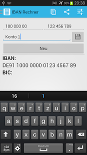 IBAN Rechner Screenshot