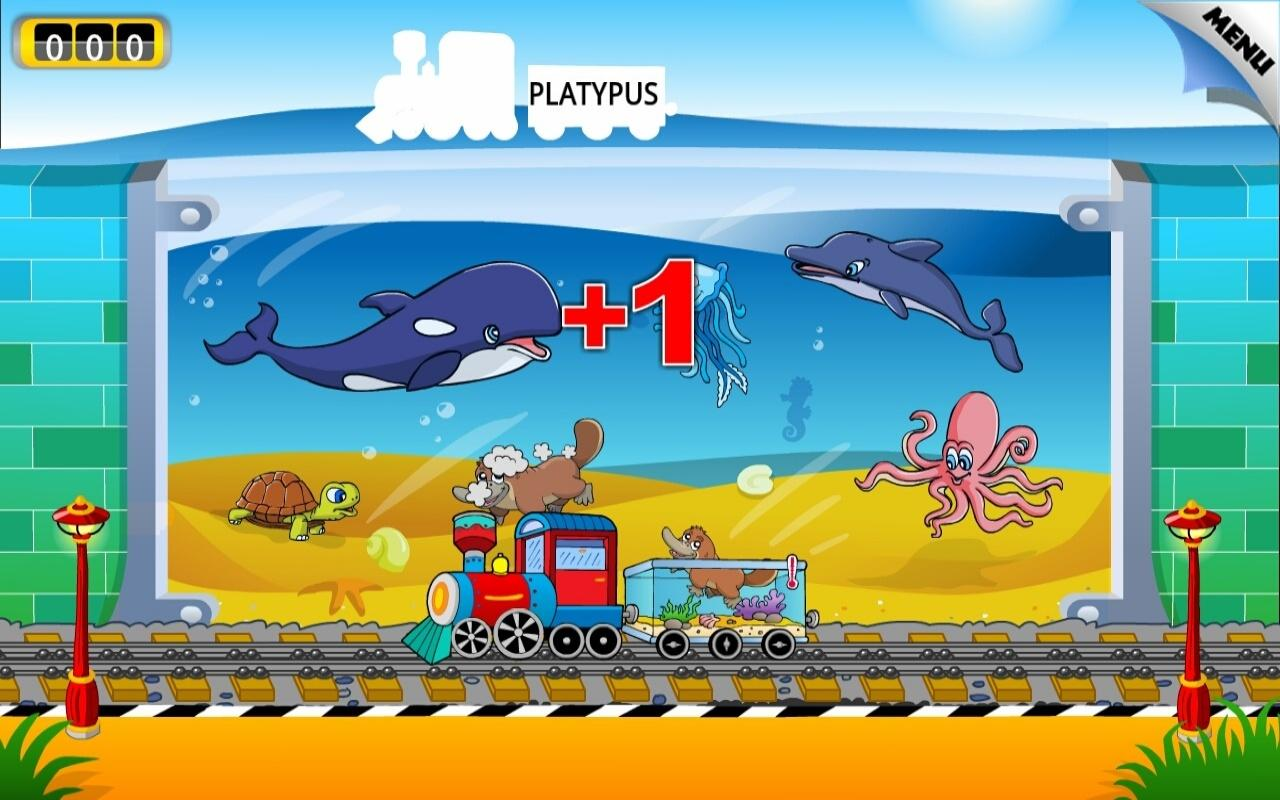 Kids Animal Train: First Words - screenshot