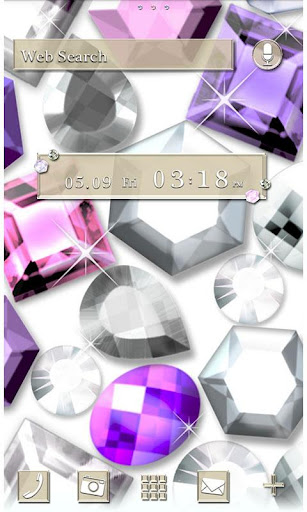 Glitter Gems for[+]HOMEきせかえテーマ