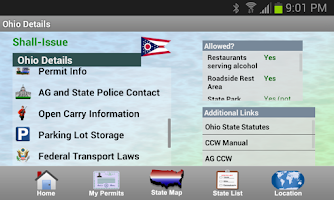 Screenshot of CCW – Concealed Carry 50 State