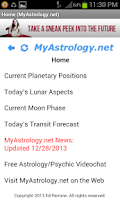 Screenshot of MyAstrology.net