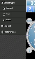 Screenshot of Analog Interval Stopwatch