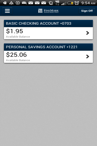 FineMark Mobile Banking- screenshot