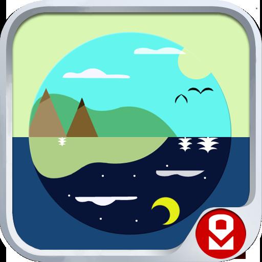 个人化の昼と夜 スクリーンロック LOGO-記事Game