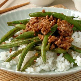 Szechuan Green Beans with Ground Pork.