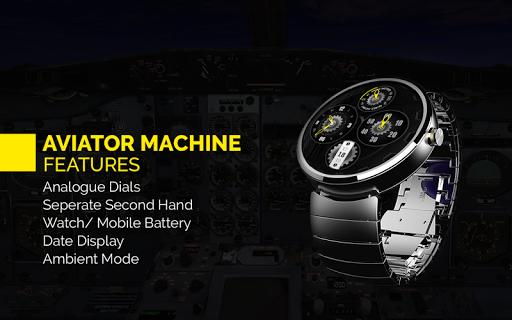 Aviator Machine Watch Face