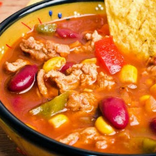 Slow Cooker Black-Eyed Pea Taco Soup.