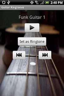 GUITAR Ringtones - screenshot thumbnail