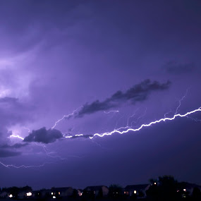 by Christa Ehrstein - Landscapes Weather ( clouds, lights, lightning, purple, lighting, color, art, artistic, night, fun, storm, creativity, mood factory,  )