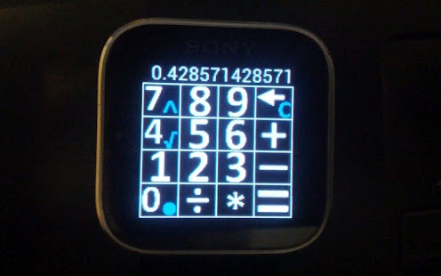 Calculator for Sony SmartWatch- screenshot thumbnail