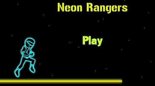 Neon Rangers Run Jump Game