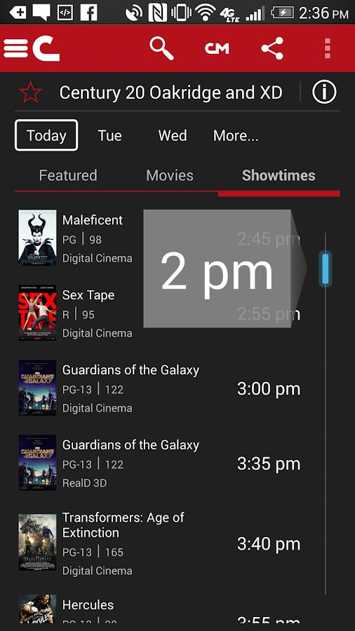 Cinemark Theatres- screenshot