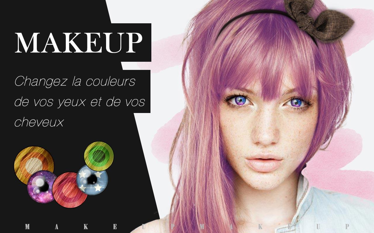 Makeup-Couleur yeux et cheveux – Applications Android sur Google Play