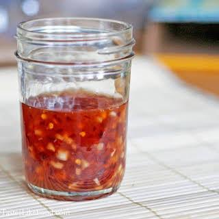 Homemade Thai Sweet Chili Sauce.