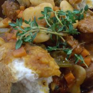 Butter Bean And Chorizo Stew.