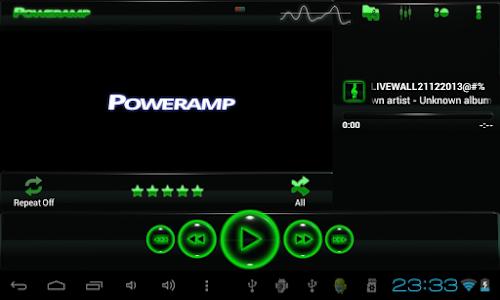 poweramp skin glow green v1.31