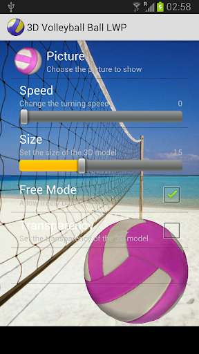 3D Ball Volleyball LWP