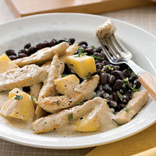 Coconut Mango Chicken with Black Beans.