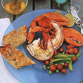 Grilled Lobsters with Southeast Asian Dipping Sauce.