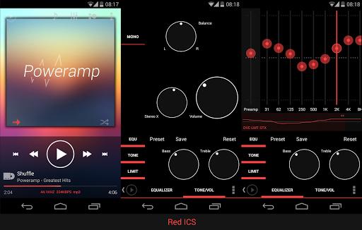 Skin for Poweramp KK Red  screenshots 6