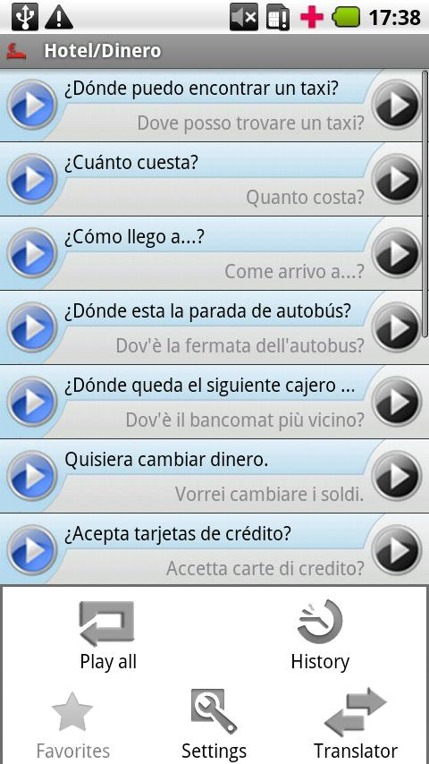 iSayHello Spanish - Italian - screenshot