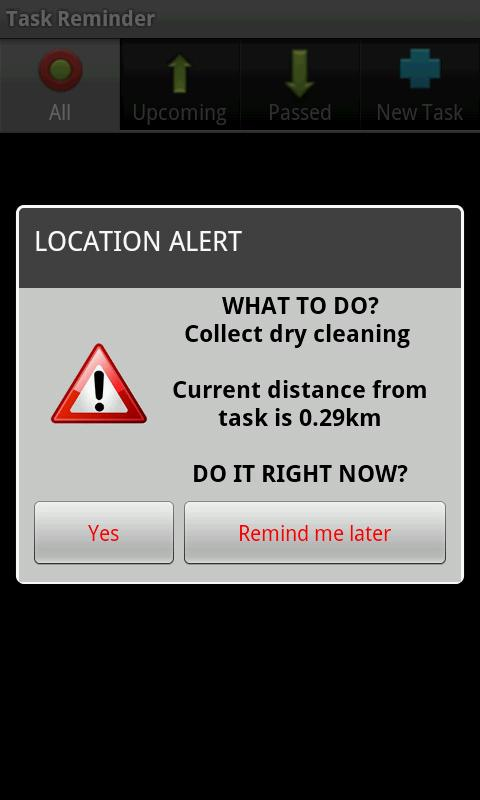 Location Based Task Reminder- screenshot