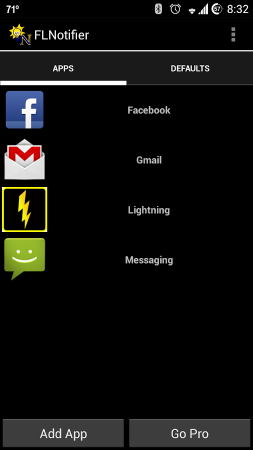 Flashlight Notifier - screenshot